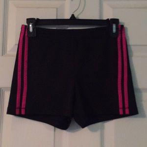 Black with pink strip short